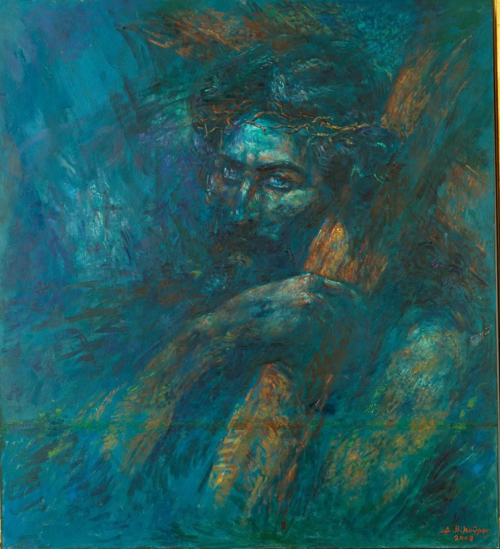 Βlue_Ζωγραφικός πίνακας Δημήτρη Κούρου