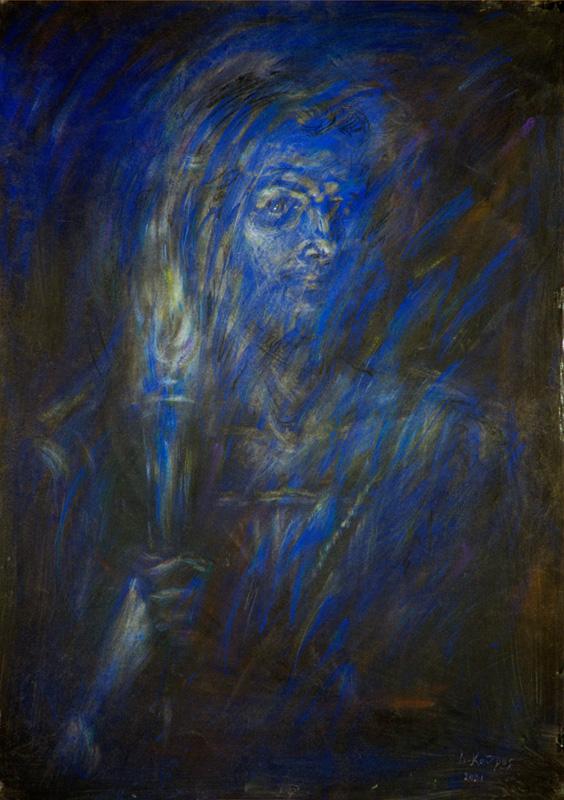 Φύση και Ψυχή_Ζωγραφικός πίνακας Δημήτρη Κούρου,