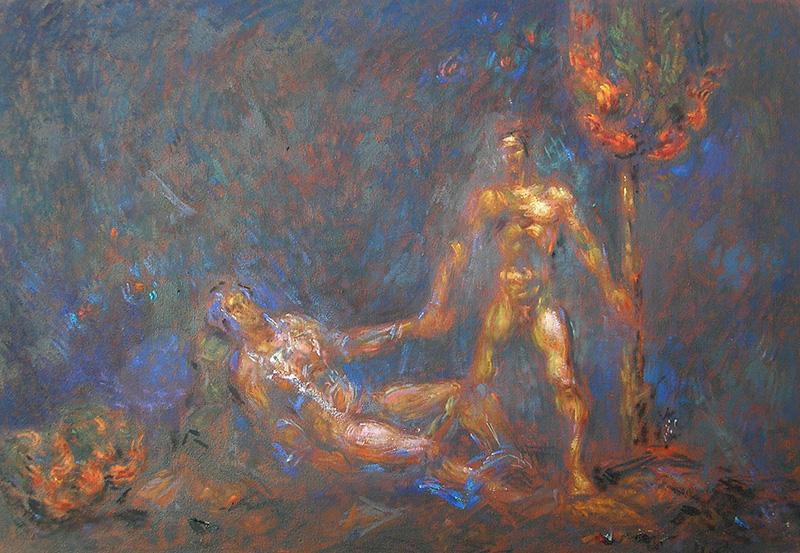 Και η ζωή θα ανθίζει…_Ζωγραφικός πίνακας Δημήτρη Κούρου,_Ζωγραφικός πίνακας Δημήτρη Κούρου, Paint by Dimitris Kouros