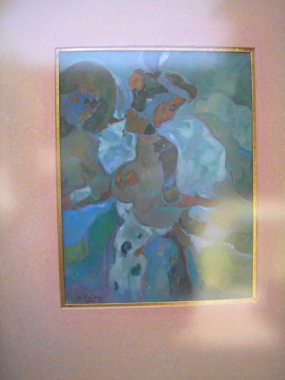 Κόρη_Ζωγραφικός πίνακας Δημήτρη Κούρου