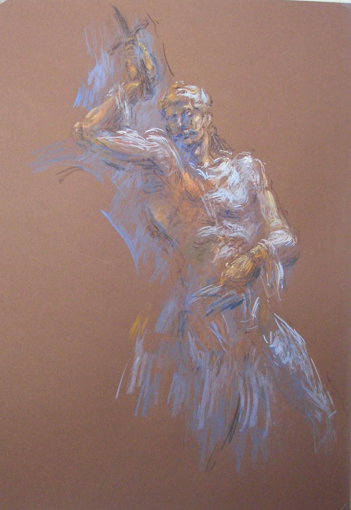 Θνήσκων ήρωας_Ζωγραφικός πίνακας Δημήτρη Κούρου