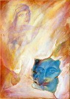 Άνθη της πέτρας__Ζωγραφικός πίνακας Δημήτρη Κούρου