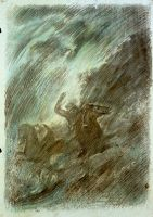 Από την ενότητα «Το τραγούδι του νεκρού αδελφού»__Ζωγραφικός πίνακας Δημήτρη Κούρου
