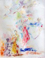 Ησυχία μιας ανάβασης_Ζωγραφικός πίνακας Δημήτρη Κούρου,