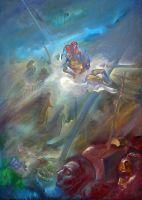Με την ψυχή_Ζωγραφικός πίνακας Δημήτρη Κούρου