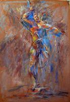 Στην εναγώνια πάλη_Ζωγραφικός πίνακας Δημήτρη Κούρου