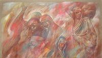 Επιτάφιος_Ζωγραφικός πίνακας Δημήτρη Κούρου