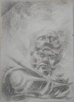 Φιλοκτήτης _Ζωγραφικός πίνακας Δημήτρη Κούρου