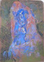 Μέσα από το βράχο_Ζωγραφικός πίνακας Δημήτρη Κούρου